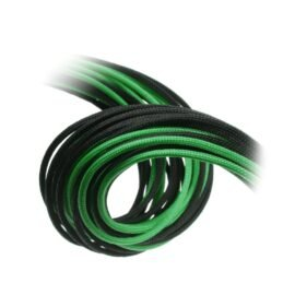 CableMod E-Series ModFlex Cable Kit for EVGA G5 / G3 / G2 / P2 / T2 - BLACK / GREEN