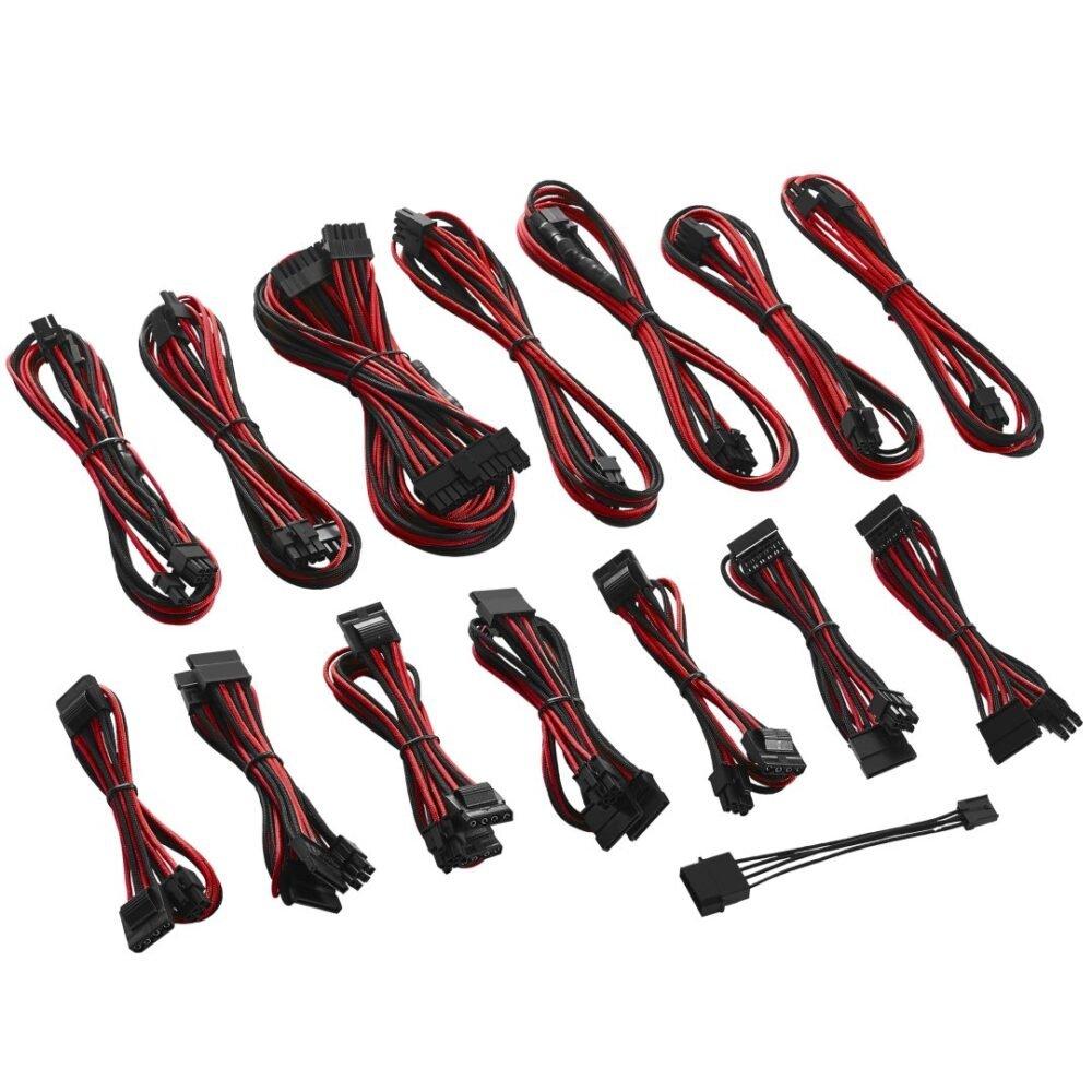 CableMod C-Series ModFlex Cable Kit for Corsair RM (Black Label) / RMi / RMx - BLACK / RED