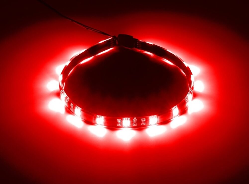 CableMod WideBeam Magnetic LED Strip - 30cm - RED