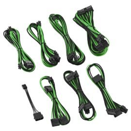 CableMod E-Series ModFlex Cable Kit for EVGA GS & PS 650 / 550 - BLACK / GREEN