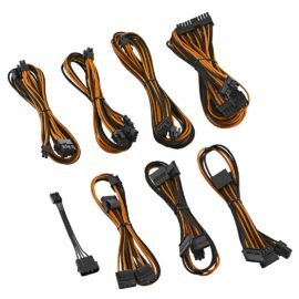 CableMod E-Series ModFlex Cable Kit for EVGA GS & PS 650 / 550 - BLACK / ORANGE