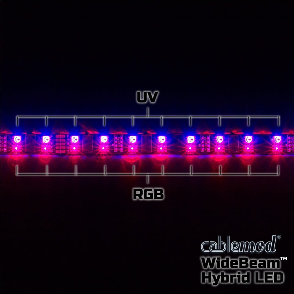 Cablemod Widebeam Hybrid Led Kit 60cm Rgb Uv Cablemod