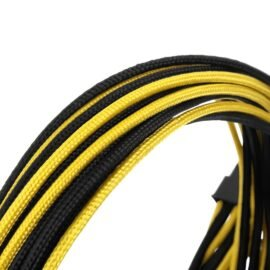 CableMod E-Series ModFlex Essentials Cable Kit for EVGA G5 / G3 / G2 / P2 / T2 - BLACK / YELLOW