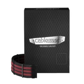 CableMod C-Series PRO ModMesh Cable Kit for Corsair RM (Yellow Label) / AXi / HXi - BLACK / BLOOD RED