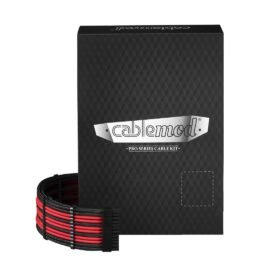 CableMod C-Series PRO ModMesh Cable Kit for Corsair RM (Yellow Label) / AXi / HXi - BLACK / RED