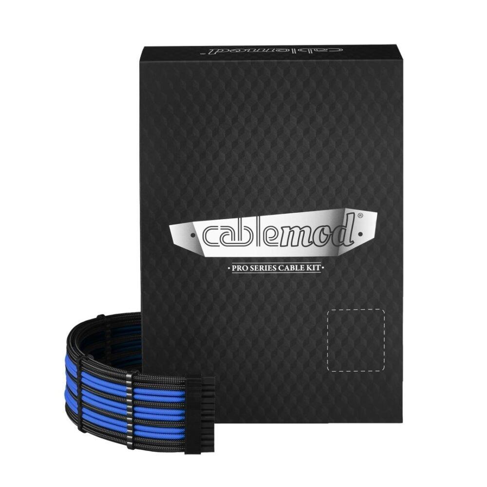 CableMod C-Series PRO ModMesh Cable Kit for Corsair RM (Black Label) / RMi / RMx - BLACK / BLUE
