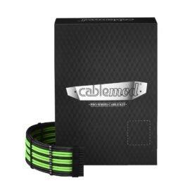 CableMod C-Series PRO ModMesh Cable Kit for Corsair RM (Black Label) / RMi / RMx - BLACK / LIGHT GREEN