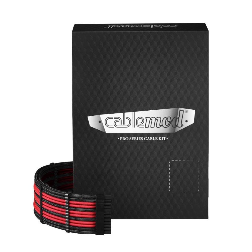CableMod C-Series PRO ModMesh Cable Kit for Corsair RM (Black Label) / RMi / RMx - BLACK / RED