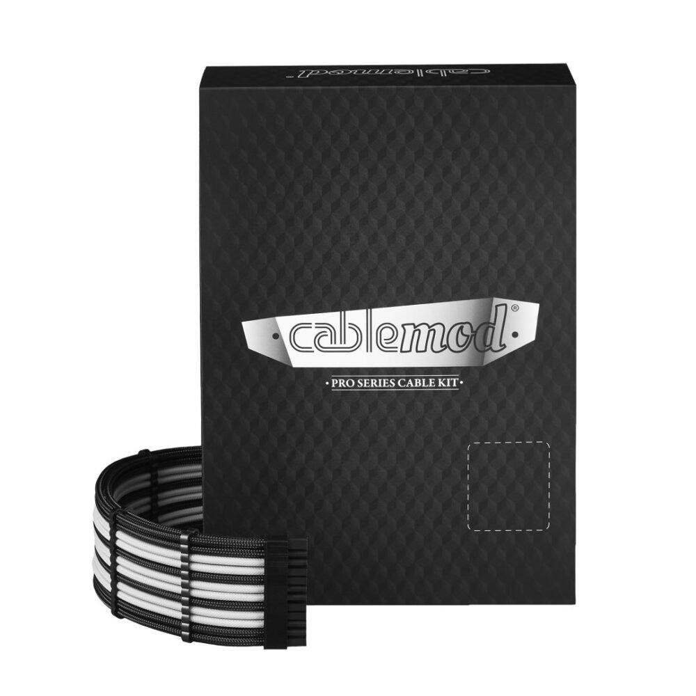 CableMod C-Series PRO ModMesh Cable Kit for Corsair RM (Black Label) / RMi / RMx - BLACK / WHITE