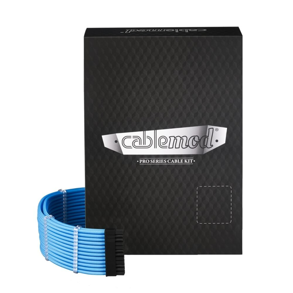 CableMod C-Series PRO ModMesh Cable Kit for Corsair RM (Black Label) / RMi / RMx - LIGHT BLUE