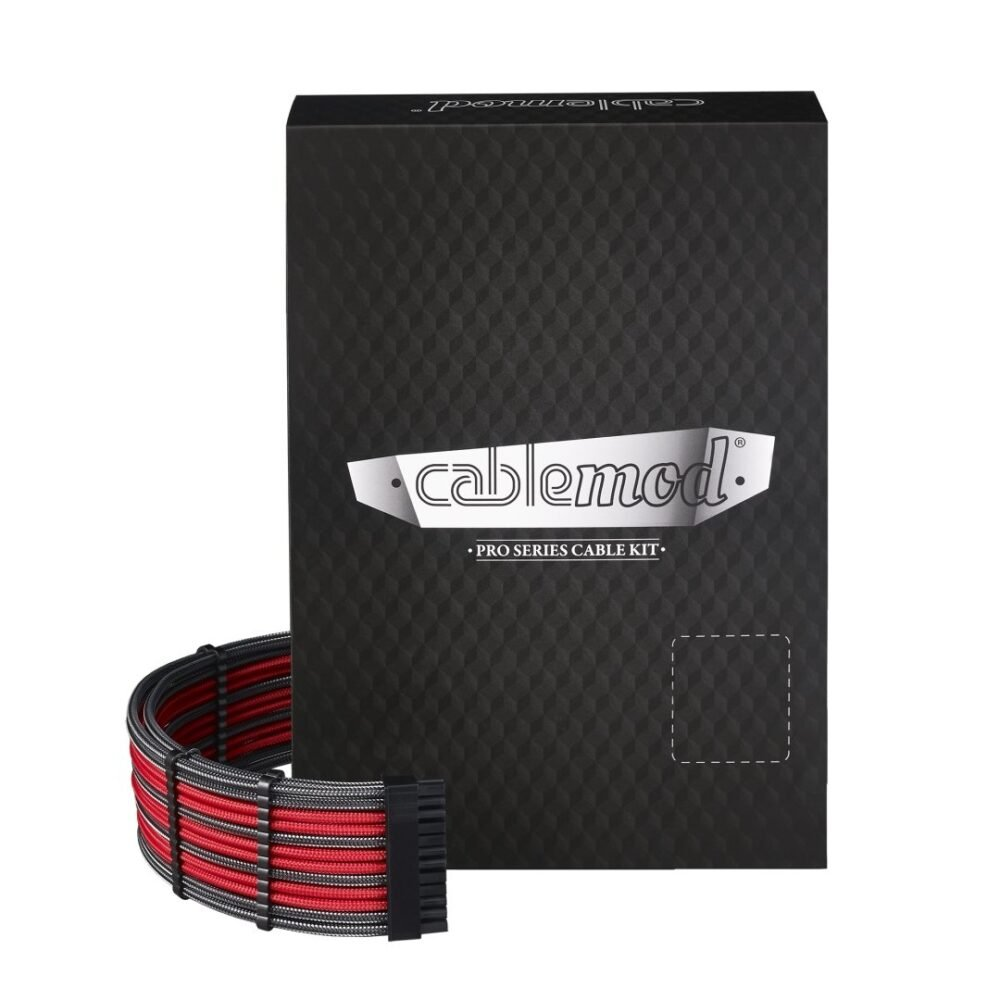 CableMod E-Series PRO ModMesh Cable Kit for EVGA G5 / G3 / G2 / P2 / T2 - CARBON / RED