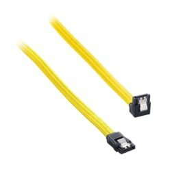 CableMod ModFlex Right Angle SATA 3 Cable 30cm - Yellow