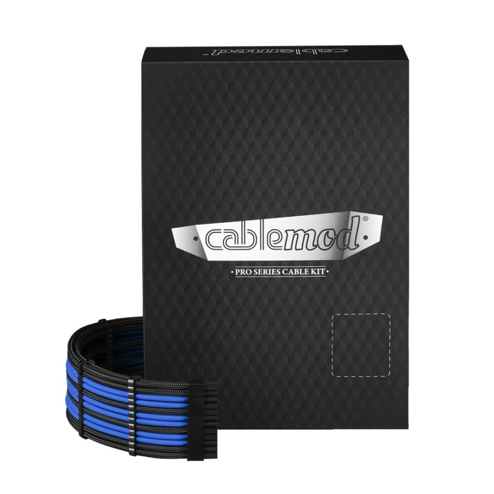 CableMod RT-Series PRO ModMesh Cable Kit for ASUS and Seasonic - BLACK / BLUE