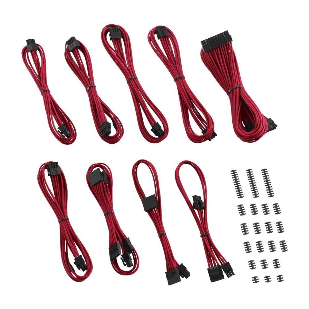 CableMod C-Series ModFlex Classic Cable Kit for Corsair RM (Black Label) / RMi / RMx - RED