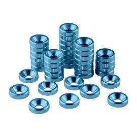 CableMod Anodized Aluminum Washers - M3.5 40 Pack - LIGHT BLUE