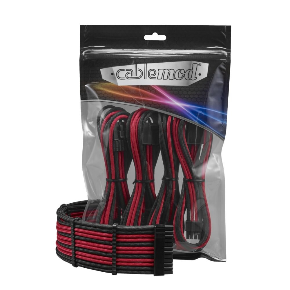 CableMod PRO ModFlex Cable Extension Kit - 8+8 Series - BLACK / RED