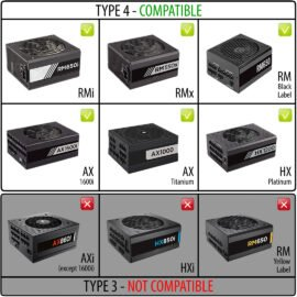CableMod C-Series PRO ModFlex Cable Kit for Corsair RM (Black Label) / RMi / RMx - BLACK