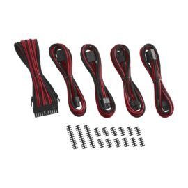 CableMod Classic ModFlex Cable Extension Kit - 8+8 Series - BLACK / RED