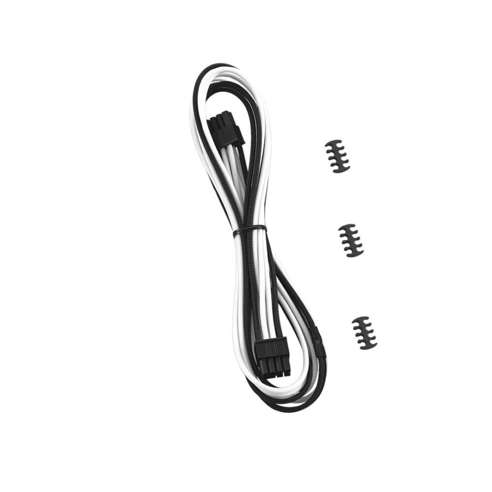 CableMod RT-Series Classic ModMesh 8-pin PCI-e Cable for ASUS and Seasonic (Black + White, 60cm)